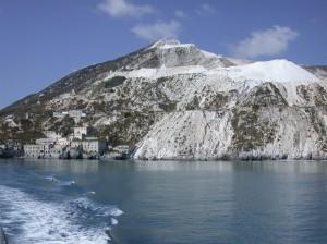 Grottes de pierre ponce de Lipari