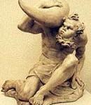Statua di Eolo che porta otre dei venti