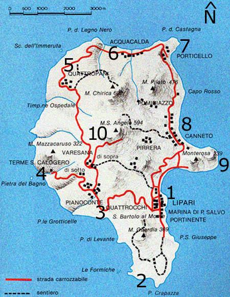 Lipari island Info Eolie