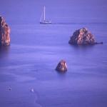 Eolie Island, Sicily:  Lipari - blue waters at the Faraglioni