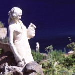 Eolie Islands, Sicily, Italy: Salina - a statue in the island