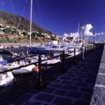 Eolie Islands, Sicily, Italy: Salina - port of  Salina Marina