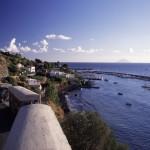 Eolie Islands, Sicily, Italy: Salina - view over the village of Salina Marina
