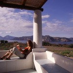 Eolie Island, Sicily, Italy: Vulcano - view from the isle over the archipelago