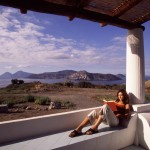 Eolie Island, Sicily, Italy: Vulcano - view over the archipelago