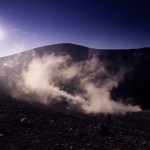 Eolie Island, Sicily, Italy: Vulcano - thermal activity on top of the volcano