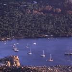 Eolie Island, Sicily, Italy: Vulcano - boats moored in the Vulcanello bay