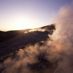 Eolie Island, Sicily, Italy: Vulcano - thermal activity on top of Fossa Grande