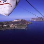 Eolie Island, Sicily, Italy: Vulcano - flying over Vulcanello