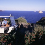 Eolie Island, Sicily, Italy: Panarea - a taxi in the island