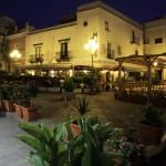 Eolie Island, Sicily:  Lipari - night scene in the centre