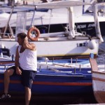 Eolie Island, Sicily:  Lipari -  scene at  Marina Corta