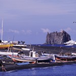 Eolie Islands, Sicily, Italy: Stromboli - the Strombolicchio rock