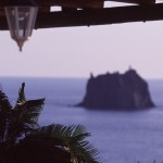 Eolie Islands, Sicily, Italy: Stromboli - Strombolicchio in the distance