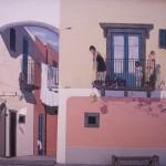 """Eolie Island, Sicily: Lipari - a murale """"trompe-l'oeil"""" near Marina Corta"""