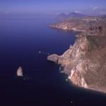 Eolie Island, Sicily, ITALY: Lipari - as seen from the sky