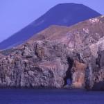 Eolie Island, Sicily, ITALY: Lipari - the coast of Lipari as seen from Vulcano