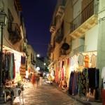 Eolie Island, Sicily:  Lipari - night life and shop opened 'til late