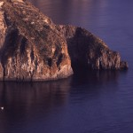 Eolie Island, Sicily, ITALY: Lipari -  the rugged coast of the island