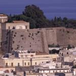 Eolie Island, Sicily:  Lipari - view of Castello and the centre