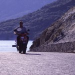 Eolie Islands, Sicily, Italy: Vulcano - riding around the isle