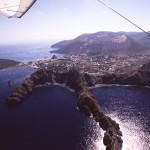 Eolie Islands, Sicily, Italy: Vulcano - flying over the island